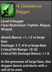 1 Giantslayer Dagger