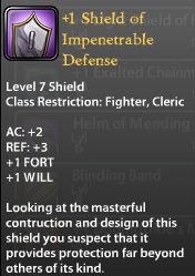 1 Shield of Impenetrable Defense