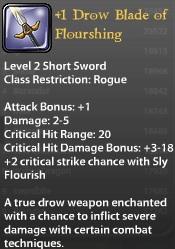 1 Drow Blade of Flourishing