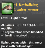 1 Revitalizing Leather Armor