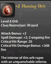 2 Flaming Orb