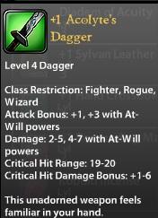 1 Acolyte's Dagger