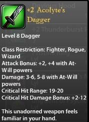 2 Acolyte's Dagger