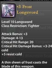 3 Frost Longsword