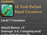 +2 Acid-Etched Hand Crossbow