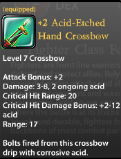 2 Acid-Etched Hand Crossbow