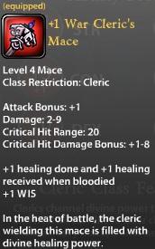 1 War Clerics Mace