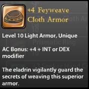 4 Feyweave Cloth Armor
