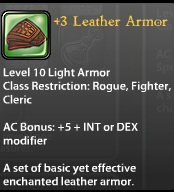 3 Leather Armor
