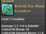 Kobold Foe Hand Crossbow