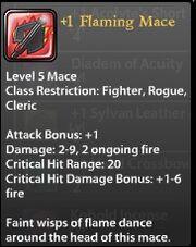 1 Flaming Mace