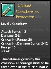 2 Hand Crossbow of Protection