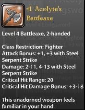 1 Acolyte's Battleaxe