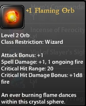 1 Flaming Orb