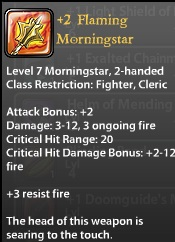 2 Flaming Morningstar