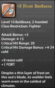 3 Frost Battleaxe