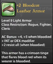 2 Bloodcut Leather Armor