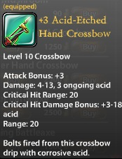 3 Acid-Etched Hand Crossbow