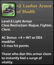 2 Leather Armor of Health