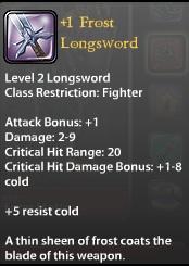 1 Frost Longsword