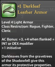 1 Darkleaf Leather Armor