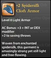 2 Spidersilk Cloth Armor