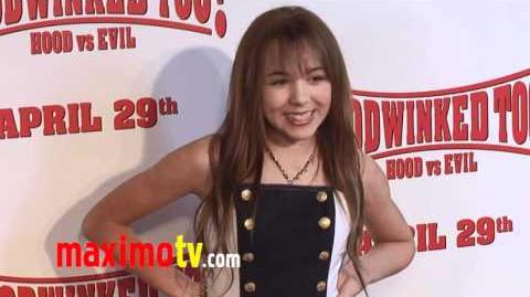 "CAMRYN MOLNAR at ""Hoodwinked Too! Hood VS Evil"" Premiere"