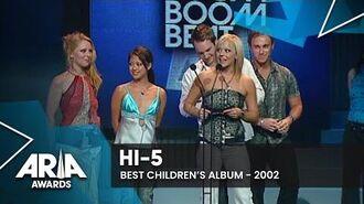 Hi-5 wins Best Children's Album 2002 ARIA Awards