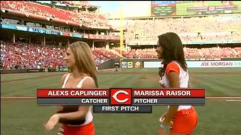 Miss Hooters International 2013 Throws the First Pitch