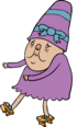 Old Lady with Purple Dress