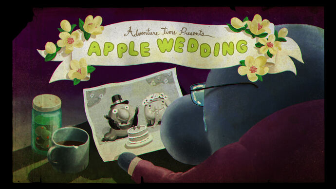 Appleweddingtitlecard