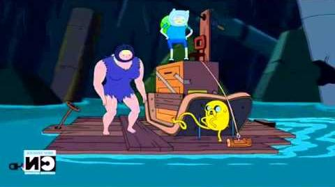 I'm on a boat with a couple of wackos - Finn, Jake and Susan