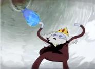 Simon congelando la bomba