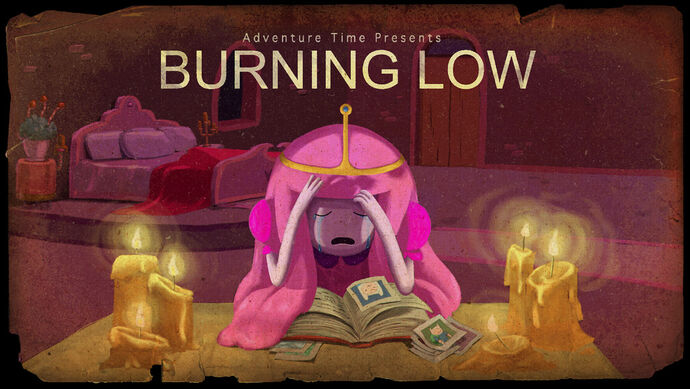 Burning Low titlecard