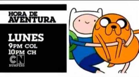 """Cartoon Network LA """"Hora de Aventura"""" Promo - """"Finn el Humano"""""""