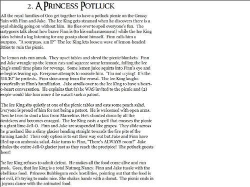 A Princess Potluck