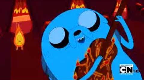 Hora de aventura incendio cancion de Jake LATINO-0