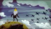 Simon petrikov mirando los aviones