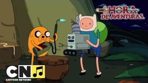 Manitas calientes Canción 'Currar para mi amo' en español Hora de Aventuras Cartoon Network