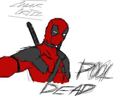 Deadpool dibujo a pulso