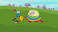 S5 e4 Finn and Jake chanting with LR watching