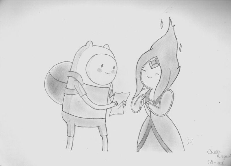 Imagen - Finn y la princesa flama hora de aventura by carlosdan123 ...