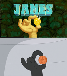 James title card and same scene