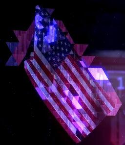 US Flag-Hologram