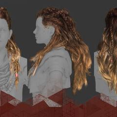 Волосы Элой (рендер)