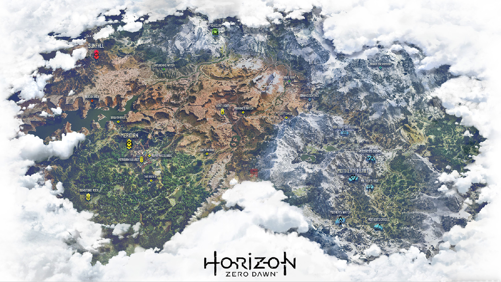 Horizon Zero Dawn Karte.World Horizon Zero Dawn Wiki Fandom Powered By Wikia