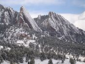 Snow-covered Flatirons from NCAR - panoramio