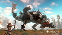 Horizon Zero Dawn Aiming at Thunderjaw