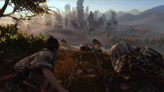 Hunters surveying the land