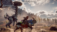 Horizon Zero Dawn Aloy riding